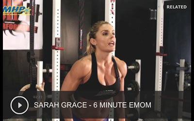 Entrenamiento emom de 6 min por Sarah Grace